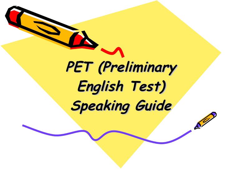 آزمون PET - موسسه ایران اروپا