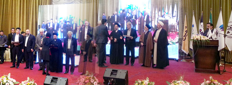 مراسم دریافت تندیس نشان مدیر عالی سال