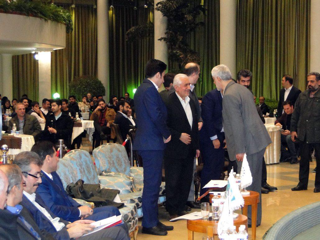 ملاقات صمیمانه مهندس غرضی و مهندس شجاع پوریان و مدیر عامل موسسه ایران اروپا